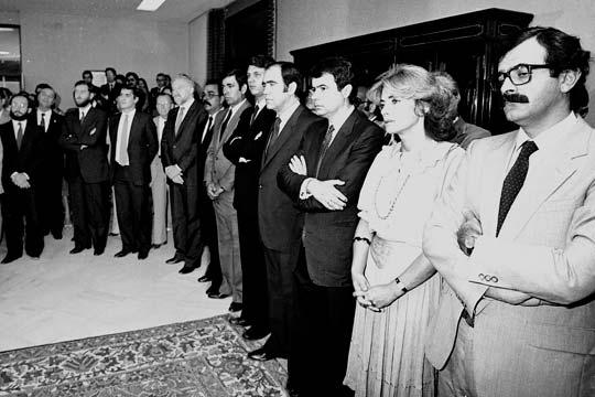 Imagen de miembros del PSOE Andalucía de 1977