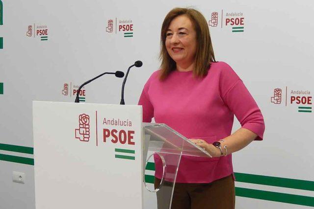 Soledad Perez en un mitin.