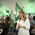 """Susana Díaz apela a la defensa firme de Andalucía ante """"un tripartito que primero te quita el miedo y luego los dere-chos"""""""