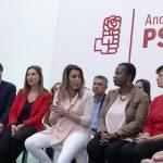 """Susana Díaz: """"Que el Gobierno andaluz esté supeditado por la extrema derecha condiciona la mirada siempre tolerante de Andalucía"""""""