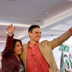 Sánchez y Díaz insisten en los peligros de no ir a votar durante su gira andaluza de precampaña 28A