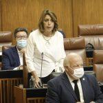 """Susana Díaz lamenta que a Moreno Bonilla """"le tiemblan las piernas"""" ante la asunción de competencias en la desescalada"""